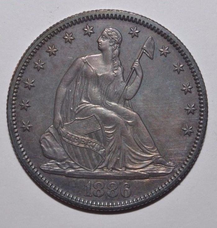 1886 Proof Seated Liberty Silver Half Dollar