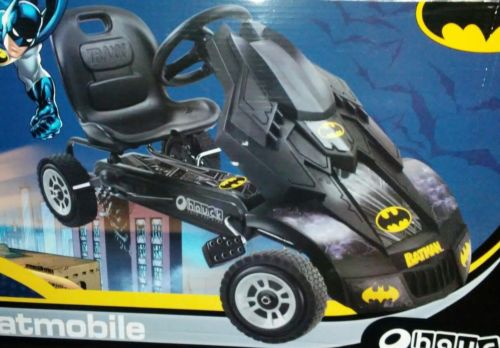 NEW BATMAN Batmobile Pedal Car Go Kart with Adjustable Seat Black & Gold
