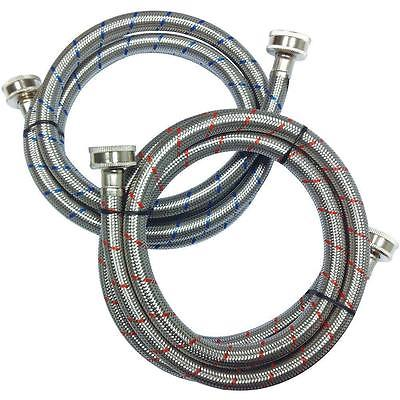 Everbilt Washing Machine Water Hose 2 Pack Hoses Set Stainless Steel Supply Line