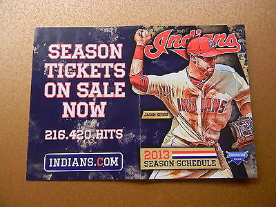 2013 CLEVELAND INDIANS POCKET SCHEDULE - AP464