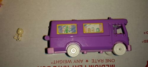Polly Pocket Bluebird stable on the go baby Ridin horse pony camper van RV lot