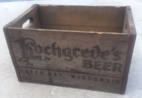 Hochgreve Beer Brewery Wood Crate Green Bay WI Pre Prohibition?