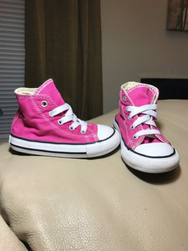 Converse All Star Chuck Taylor High Top Cosmos Pink toddler size 6