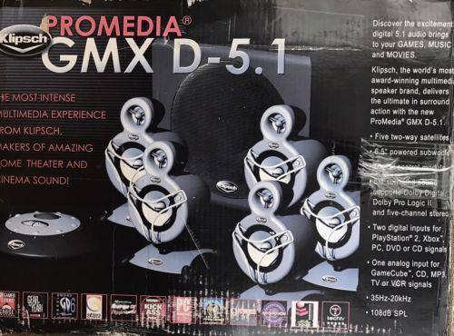 Klipsch ProMedia GMX D-5.1 Surround Sound Speaker System(Controller Not Working)