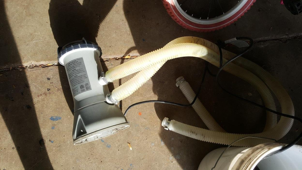 Intex Above Ground Pool Pump For Sale Classifieds