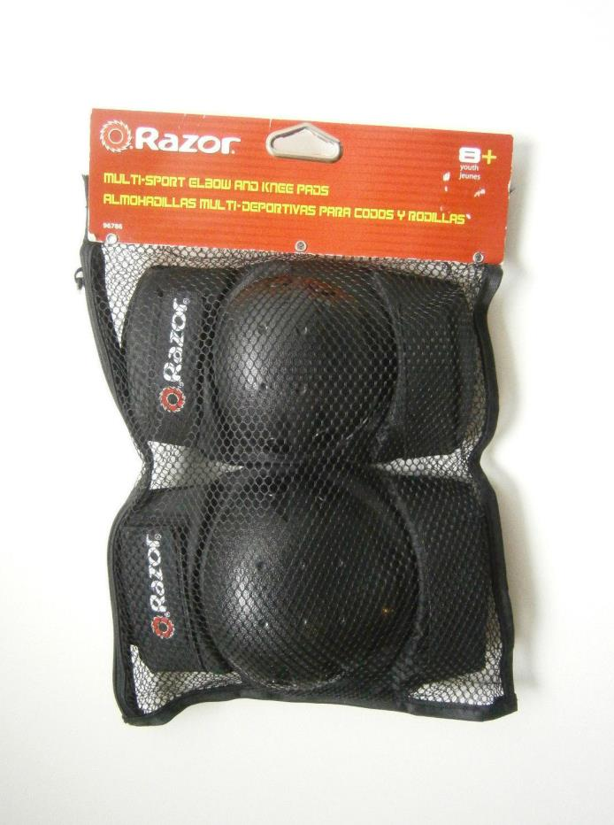 RAZOR MULTI SPORT Elbow and Knee Pads Set Size: Youth - NEW
