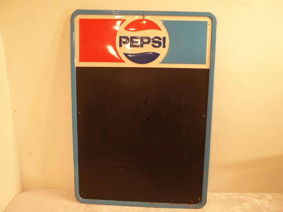 Vintage Pepsi Cola Embossed Menu Board Sign Advertising 27