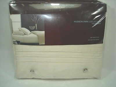 Hudson Park 800 Thread Count 100% EGYPTIAN Cotton KING FLAT Sheet IVORY $260