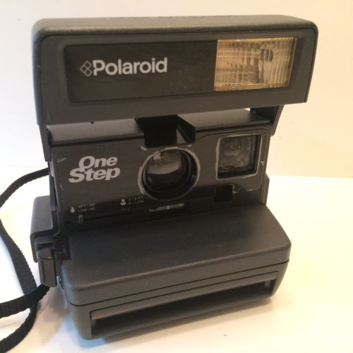 POLAROID ONE STEP WITH FLASH FILM CAMERA TESTED WORKING EUC