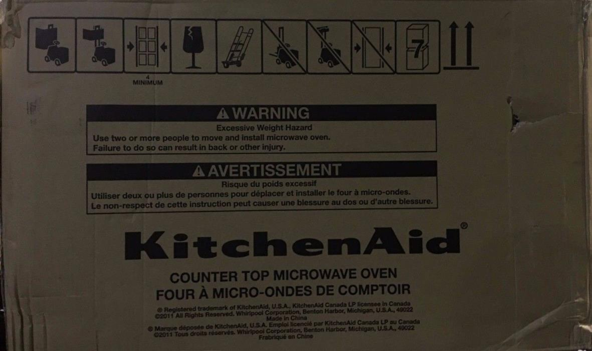 New KitchenAid counter top microwave KCMS1655BWH 1.6 CU. FT, 1200 WATTS, White