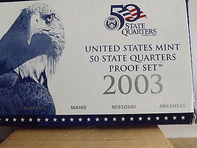 2003 50 State Quarters Proof Set