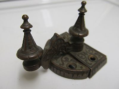 'Turret' Antique Brass ORNATE Vintage Swing Arm Latch Window Lock Sash