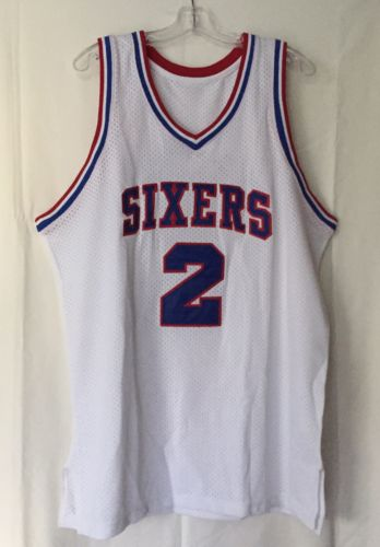 NBA Autographed Away Jersey: Moses Malone