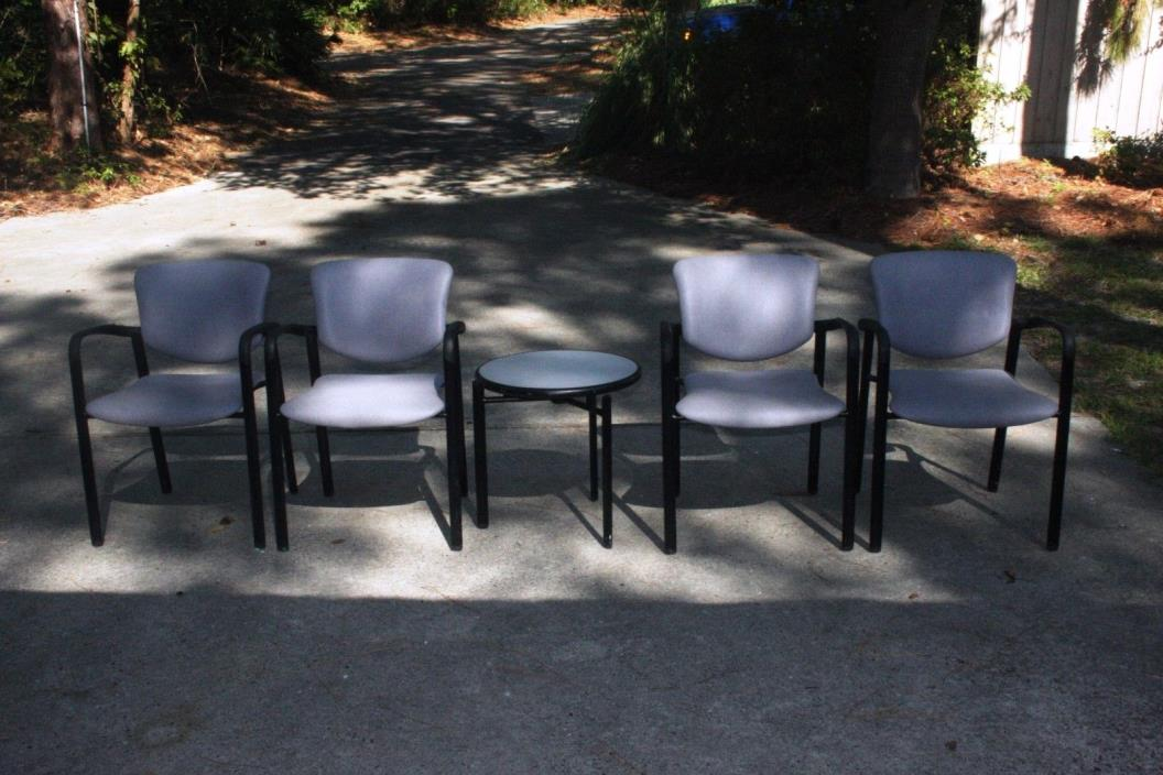 HaworthReception/Office chairs and matching table