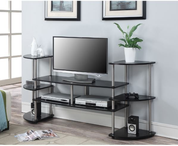 TV Stands for Flat Screens 55 60 Low Stereo Entertainment Center Console Media