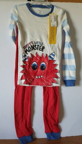 Childrens place boys Toddler 5T Pj set Daddys little monster Pajama 2pc NEW