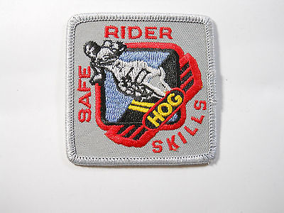 Motorcycle Safe Rider Hog Skills Patch  subdued