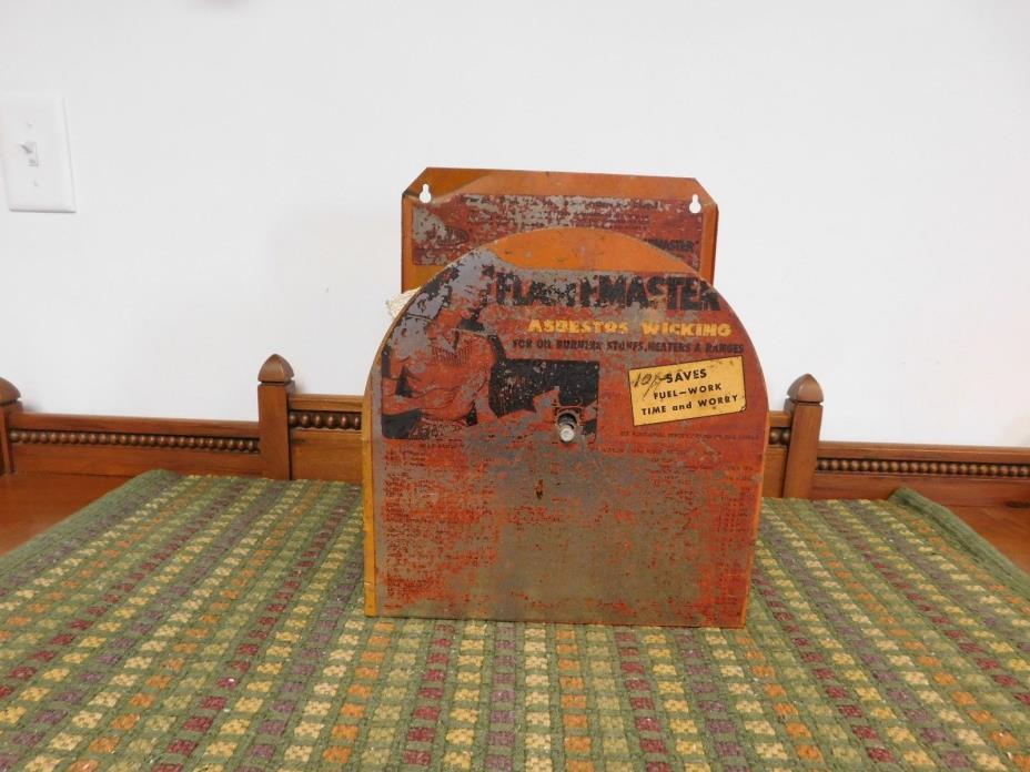 Vintage Flamemaster Wick Advertising Store Display Asbestos Oil Fuel Metal