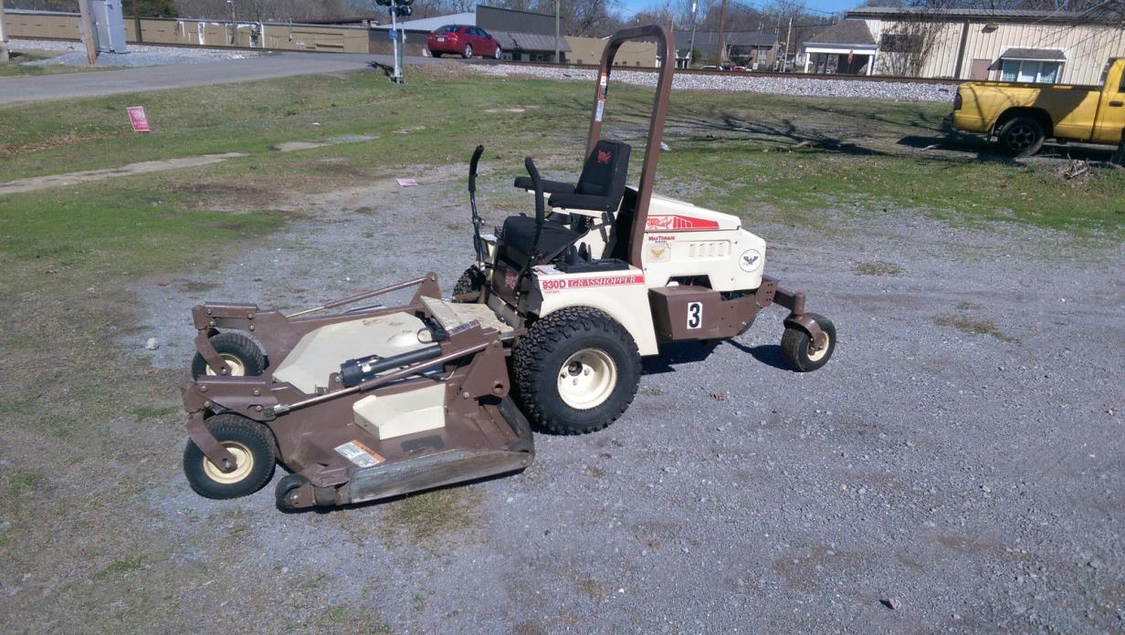 Used Grasshopper ZeroTurn Mower - Out Front 930D Kubota Diesel - 72 IN Deck