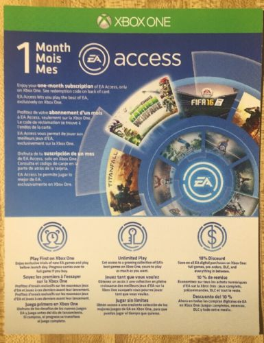 XBOX ONE 1 Month EA Access Subscription Code INSTANT DELIVERY