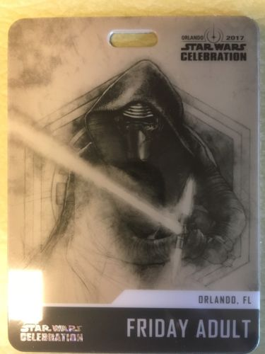 Star Wars Celebration 2017 Orlando Friday Only Pass