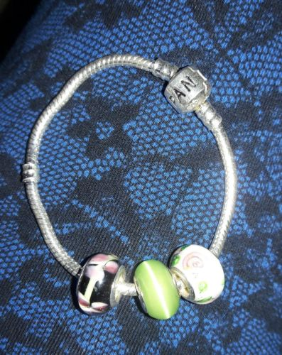 Sterling Silver .925 with beads bracelet