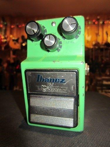 Vintage Circa 1982 Ibanez TS-9 Tube Screamer Rich Overdrive Effect Pedal Green