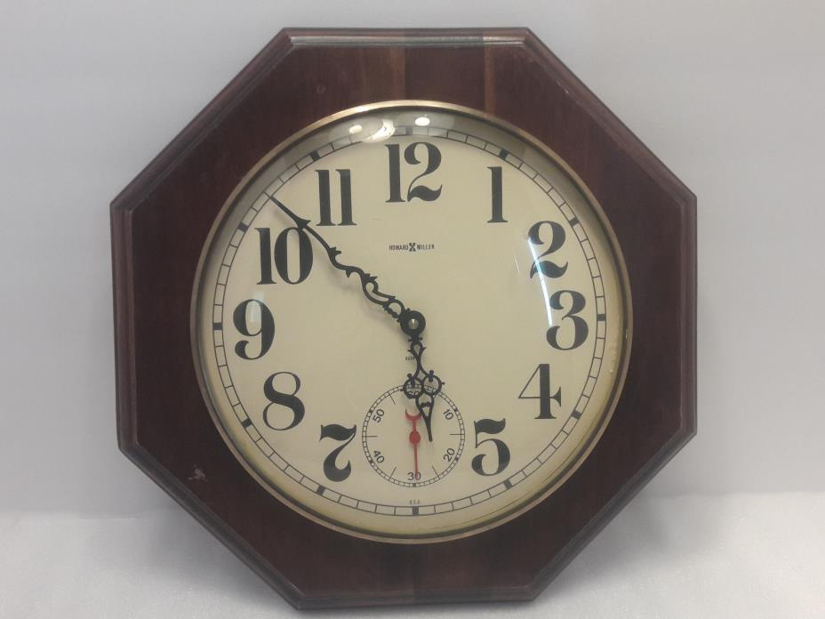 RARE vintage Howard Miller 613-419 Wall Clock Quartz