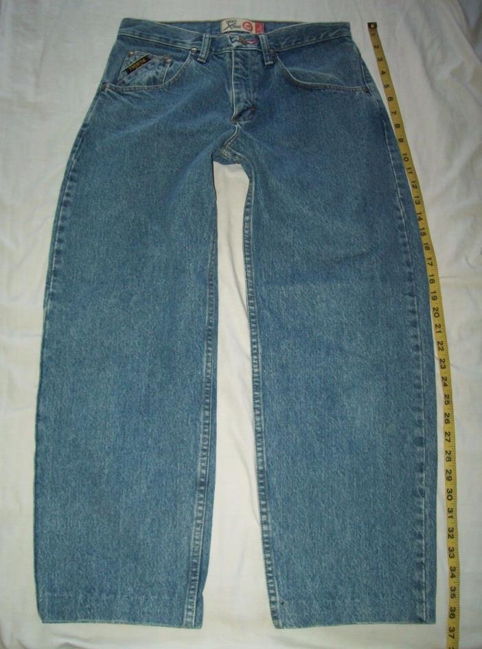 Women's 20 XTREAM 20X Twenty X Blue Jeans Label size 29x32 measures 31x27 short