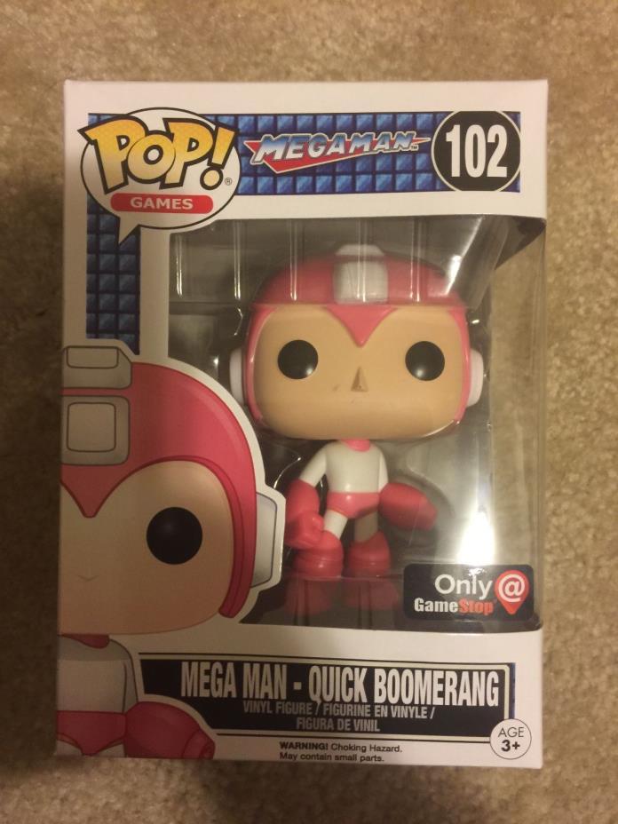 Funko Pop! Pink Mega Man #102 Quick Boomerang Game Stop Exclusive Mystery Box