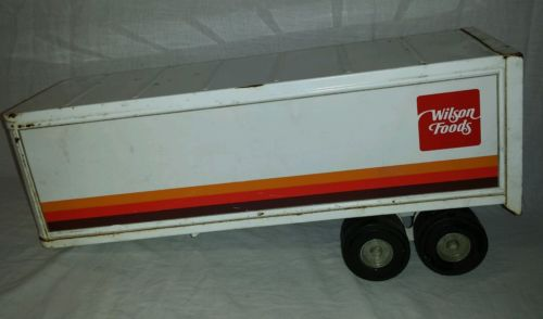 Wilson Foods Nylint semi tractor trailer vintage Meat packing co ERTL