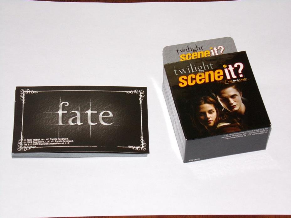 TWILIGHT SCENE IT DVD Game Trivia Cards & Fate Cards Replacement Pieces Part