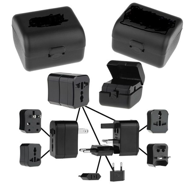Universal Travel Adapter Power Plugs in Case World traveler