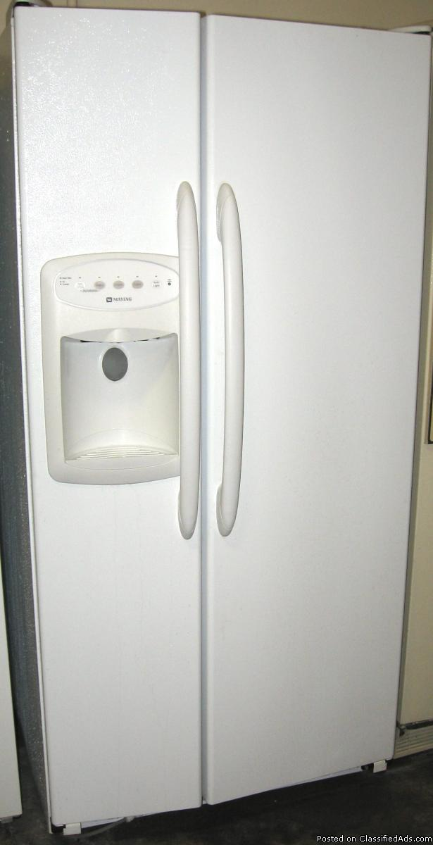 Maytag 22 cu.ft Side By Side Refrigerator w/Warranty. ONLY - $339