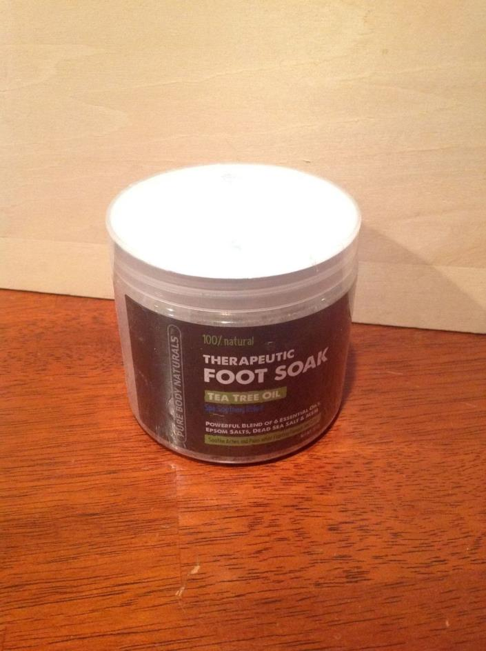Foot Soak With Tea Tree Oil And Epsom Salt - 20 Oz - Tea Tree Essential Oils