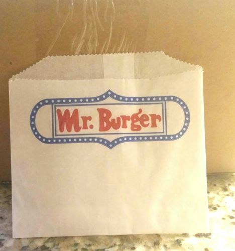 2000 Qty Disposable Mr. Burger French Fry Wrappers