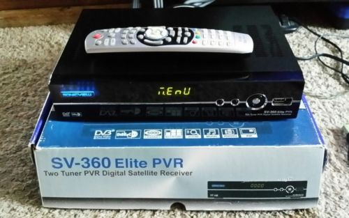 SONICVIEW SV-360 Elite FTA PVR 2 tuner PVR Digital Satellite Receiver