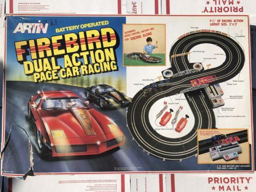 Artin Firebird Dual Action Pace Car Racing RC Slot Cars