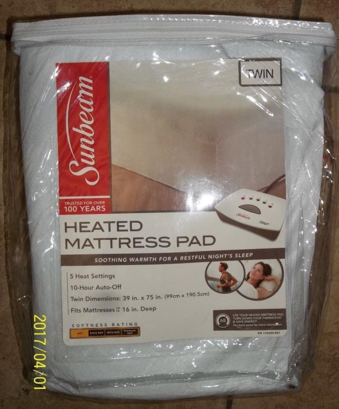 Sunbeam Heated Mattress Pad, Twin Size Brand New