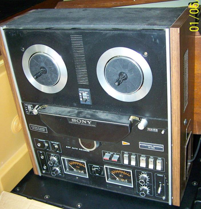 Vintage Sony TC-580 Reel to Reel Tape Recorder