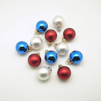 4th of July Decoration Red White Blue Glass Ornaments