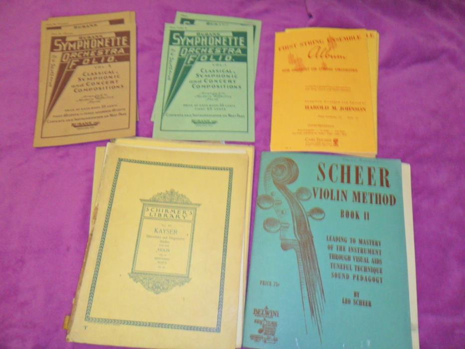 LOT 0F 5 DIFFERENT SHEET MUSIC