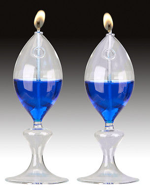 Bright Lights-  Clear glass paraffin oil lamps