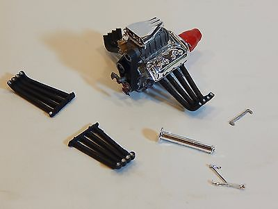 V-8 Hemi Blown Funny Car Dragster Engine ~ 1/25 scale parts   (MDFC)