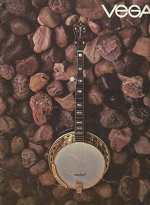 VEGA BANJO COLOR CATALOG~1972~Gorgeous photos!