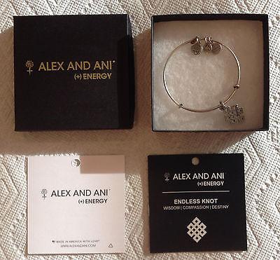 New Alex and Ani (+) Energy Endless Knot Bracelet - Wisdom Compassion Destiny