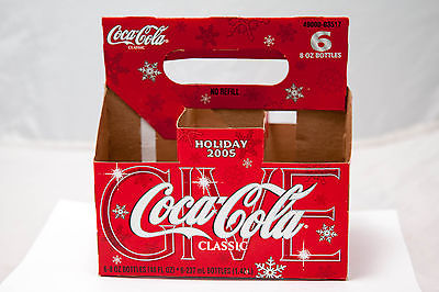 Holiday 2005  6 Pack Coca Cola Coke Paper Carton Carrier