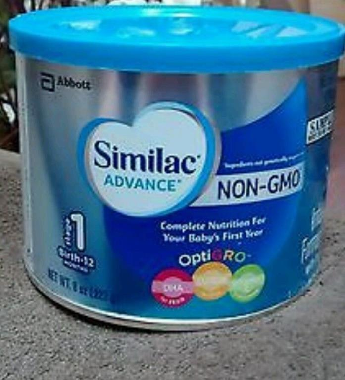 Lot Of 4 Similac Advance NoN-GMO Opti-Gro Infant Formula 8 oz Cans
