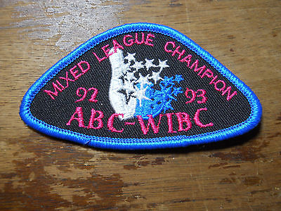 ABC WIBC Mixed League Champion 1992-1993 Patch