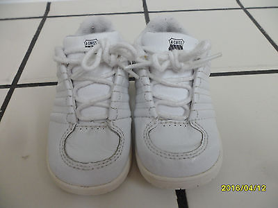 TODDLER SZ 5.5 K -SWISS WHITE ATHLETIC SHOES